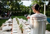Midsummer Night's Dream / The perfect summer soirée at Athena's  ranch in Amagansett, contemporary with a boho-mediterranean feel.