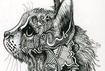 Drawing. Zentangle & doodle