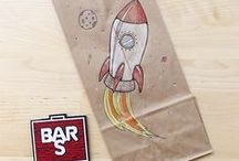 Lunch Bag Art / Pack up your favorite Bar-S sandwiches in style! These fun designs will make kids look forward to school lunch. Check out these simple tutorials: https://www.youtube.com/user/BarSFoods