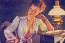 Pin-up`s best of Gil Elvgren / pin-up`s made by Gil Elvgren 1914-1980 Gil Elvgren was one of the most important pin-up artists of the twentieth century. A Gil Elvgren model was seldom portrayed as a femme fatale - she was the girl next door whose charms were revealed in that fleeting instant when taken by surprise. Did anybody see? Of course they did!