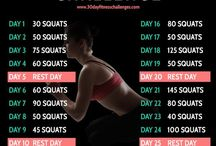 30 Day Fitness Challenges / Are You Up For The Challenge?