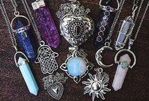 Crystals, gems, silver, accessories