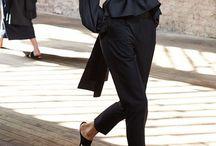 Style/Jet Black(Could Wear It Everyday)...Fashion / All Black color clothing, black fashion, black dress, black pants, black top, black skirt, black coat, black wear,black / by Nicole Malonson