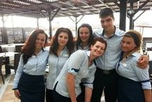 Our staff / Our staff consists of skilled and motivated young people who their aim is to make your holidays memorable.