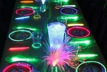 Glow in the Dark Party Ideas / Products that would  be great for a glow in the dark themed party or as party gifts for guests