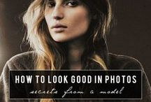 Flattering Poses in Photos / A few simple tips for taking flattering photos of your family, friends, and yourself.  The right make-up, pose, and lighting  can make all the difference.