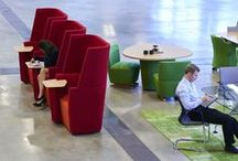 Away from the Desk / Away from the desk is a soft upholstery system which answers the needs of our rapidly changing workplace as we migrate away from the predominance of the personal desk, with its fixed and tethered technology.  Individual spaces seamlessly integrate with larger, more collaborative working configurations, at lounge, table or café height. Facilitating, both concentrated personal work and collaborative team work.