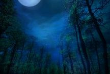 Blue Moon: Poetry & Art / Beautiful moon images and midnight-blue-themed art paired with poetry by Michael McClintock.