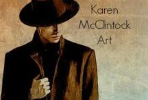 Karen McClintock's Illustrative Art / Much of my artwork is created to illustrate the poetry of my husband, Michael McClintock.  I majored in art and design in college, and my interests grew in the last 15 yrs. to include photography, digital art, and collage renderings in mixed media.  Every poem presents a new challenge to illustrate in a unique and meaningful way, and that is the aspect of my creativity I love the very most . -- Karen McClintock