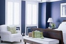 Classic Blue & White / This timeless color scheme can work into any style, except ugly.