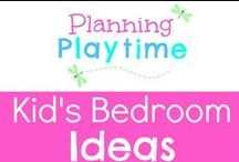 Kid's Bedroom Ideas / A little bit of inspiration for decorating the kid's bedrooms.
