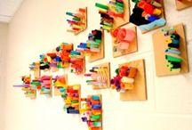 Sculpture / Sculpture and three dimensional artwork ideas for a junior high art class (8th and 9th grade).