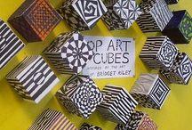 Op Art / Op art ideas for a junior high art class (8th and 9th grade).