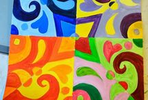Color / Color theory ideas for a junior high art class (8th and 9th grade).