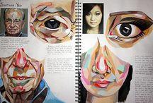 Sketchbook/Art Journal / Sketchbook and art journal ideas for a junior high art class (8th and 9th grade).