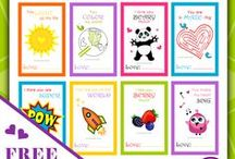 Printables and Goodies for Families by Purple Splash Studios / Free, fun and inspirational printables and goodies for kids including coloring in pages, thank you notes, posters, kids activities and more