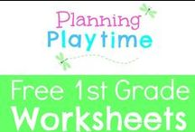 Free 1st Grade Worksheets / Free 1st Grade Worksheets. Printables for math, literacy, addition, subtraction, money, word families, sight words, reading and more. RULES: 1. Free items only. 2. Repin 1 for every pin you add. 3. Only 2 Pins per pinner per day. To join this board, message me at my store, https://www.teacherspayteachers.com/Store/Planning-Playtime. Pins that are a week+ old with no repins will be regularly deleted to keep this board relevant.