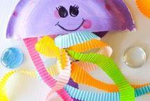 Ocean Crafts for Kids / Fun Ocean Crafts for kids - fish crafts, turtle crafts, ocean theme recipes, and other fun ocean themed crafts and activities.