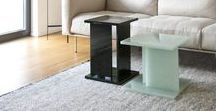 Font / BY SEBASTIAN HERKNER -  Font is a coffee table made out of Glaskeramik, a material created from 100% waste material by Magna Glaskeramik.