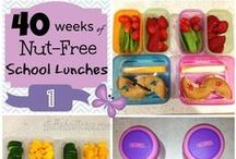 School Lunch Ideas / Lunch box inspiration for children with food allergies - dairy free, egg free, gluten free and nut free recipes