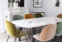 GUBI Dining Room Inspiration / Inspiring images of GUBI designs shown in your dining room.