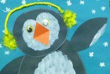 Winter: Pinguin. / Kijken....op DVD..The march of the pinguïns. En dan, knutselen maar.