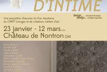 Exposition Partage d'Intime / Exposition métiers d'art, design et art contemporain, avec le FRAC Aquitaine, le Pôle Expérimental Métiers d'Art de Nontron, le CRAFT Limoges et les professionnels métiers d'art. du 23 janvier au 12 mars 2016 à Nontron (24).