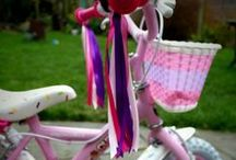 Retro Handlebar Ribbons / Make your bike or scooter stand out from the crowd with these beautiful handmade handlebar ribbons. Loads of colours available. Great for identifying your child's bike or scooter in the playground!