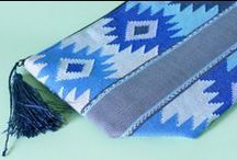 Guatemala Textiles / Rethinking the status quo  All products are designed and manufactured in cooperation with the Guatemalan Association of Women for Artisian Development in Backstrap Weaving, located in the five departments of the western highlands of Guatemala, Sololá Huehuetenango, Quiche and Quetzaltenango. The Association represents about 400 women in 17 weaving cooperatives. Designs and colors differ from village to village.  Every single thread of the fabric is hand embroidered.