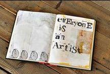 Art Journal Love / Beautiful art journal inspiration.