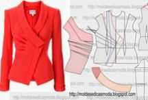 Oděvy šité, střihy
