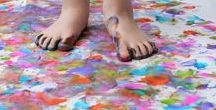 Gardening art for kids / Ideas for art in the garden with children