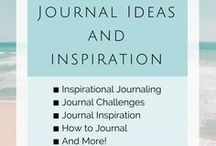 Journal Ideas and Inspiration / Journal Prompts | Ideas | Inspiration - Inspirational journaling is good for the soul. Throw in a little art, and it's a party.