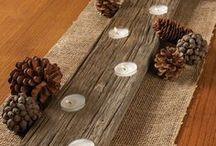Fall Decorating Reuse Idea / Upcycled seasonal decorating inspirations.