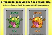 Times Tables / The best card games for teaching times tables. Fun activities to teach times tables. Great games for learning times tables. EVERYTHING that teaches times tables. Want to ADD to this board - paul@teachyourchildrenwell.com.au....... In the SUBJECT, just write - TIMES TABLES