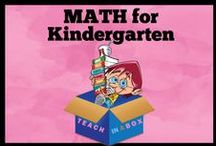 Math for Kindergarten - Teach in a Box / Math resources for teaching Kinder. Teach in a Box. Teaching resources made by Australian Teachers. To pin to this board, write to: paul@teachyourchildrenwell.com.au