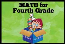 Math for Fourth Grade - Teach in a Box / Math resources for teaching Fourth Grade. Teach in a Box. Teaching resources made by Australian Teachers. To pin to this board, write to: paul@teachyourchildrenwell.com.au