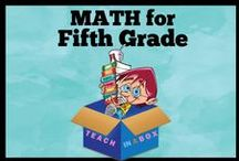 Math for Fifth Grade - Teach in a Box / Math resources for teaching Fifth Grade. Teach in a Box. Teaching resources made by Australian Teachers. To pin to this board, write to: paul@teachyourchildrenwell.com.au