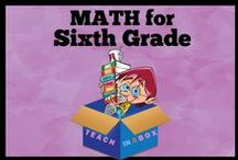 Math for Sixth Grade - Teach in a Box / Math resources for teaching Sixth Grade. Teach in a Box. Teaching resources made by Australian Teachers. To pin to this board, write to: paul@teachyourchildrenwell.com.au