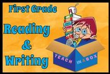 Reading and Writing for First Grade / Reading and Writing resources for teaching First Grade. Teach in a Box. Teaching resources made by Australian Teachers. To pin to this board, write to: paul@teachyourchildrenwell.com.au