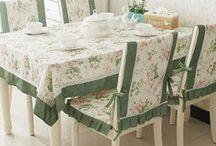 Nápady do domu - ubrusy a potahy židlí