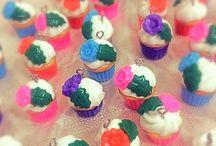 Benim Hobilerim / #polimerkil#kaşık#süsleme#çatal#cupcake#macaron#sunum#pembe#renkli#mor#rengarenk#ahşap#etamin#boyama#örgü#çanta#