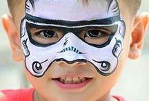 Facepaint for boys / Facepaint ideas for boys, superhero facepaint, animal facepaint etc