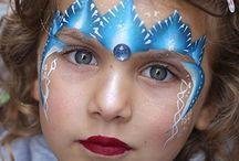 Elsa frozen facepaint designs