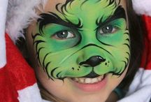 Christmas facepaint designs / if your looking to make a special Christmas party and don't know what to add...try facepaint!