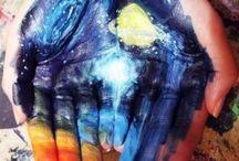 Hand body art / Different art on hands