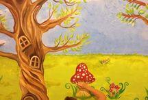 Wall mural ideas for children's room