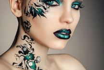 extreme make up / Extreme beauty, make up for events, fashion make up, adult facepaint etc