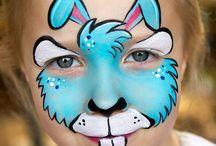easter facepaint designs / Easter party facepaint ideas