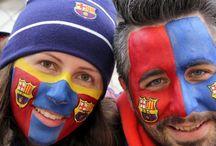 Barcelona Football Facepaint FCB / Barcelona Football FCB facepaint. Would you like your facepainted professionally for the big match??? Contact www.caramona.es